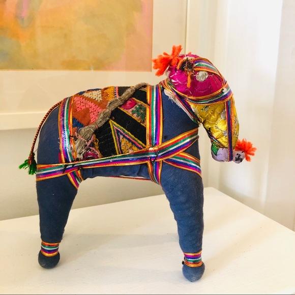 Vintage handmade Indian Rajasthani elephant